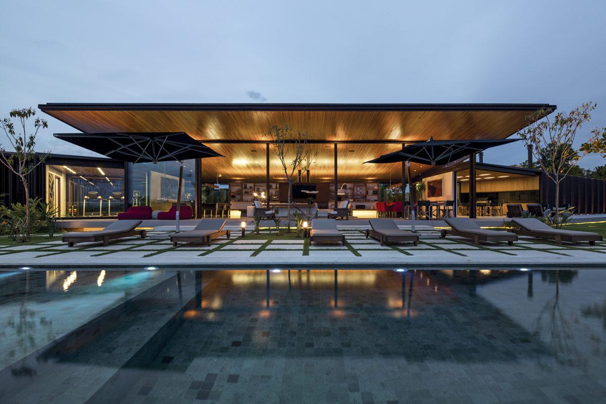 Jacobsen arquitetura casa ca bragan a paulista sp arcoweb - Architecture contemporaine residence parks ...