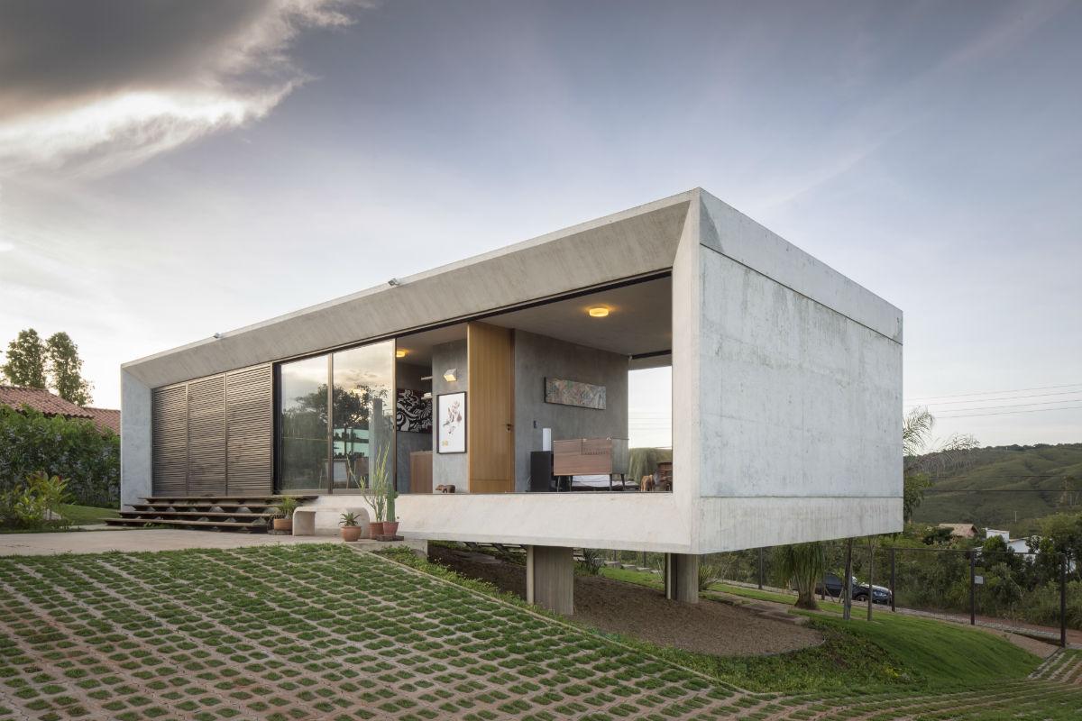 Casa do dia 3 4 arquitetura arcoweb for Casa modern