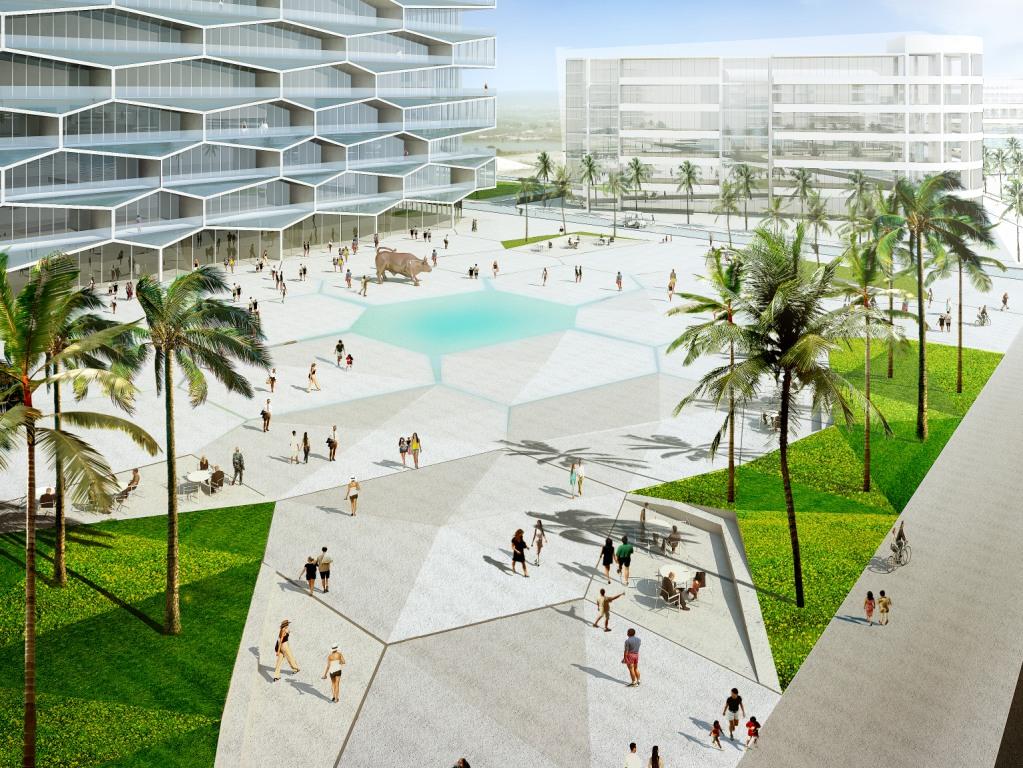 Favos de mel inspiram projeto de bjarke ingels no caribe for Design hotel magdeburg