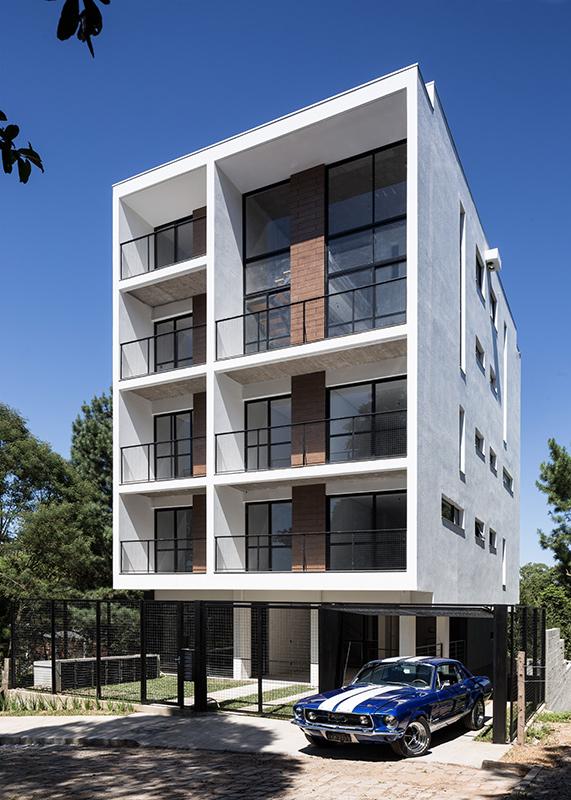 Luciano lerner basso edif cio residencial caxias do sul for Fachadas de edificios modernos