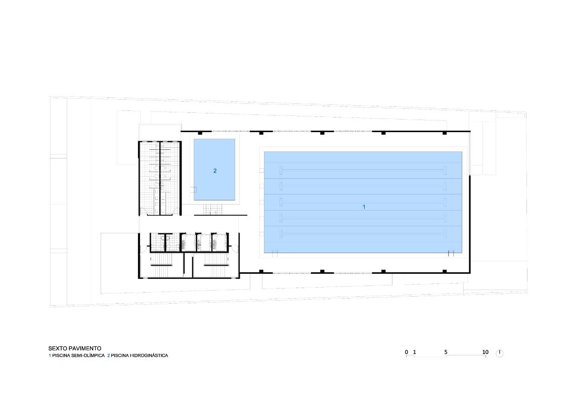 Costa e macedo arquitetos clube vertical santos arcoweb for Medidas piscina semiolimpica