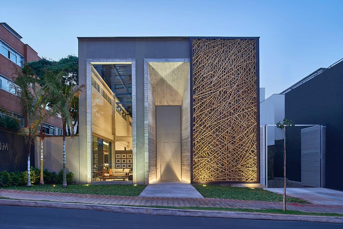 Tecnologia megaporta de bambu em caixilhos de alum nio for Fachadas de casas modernas em belo horizonte