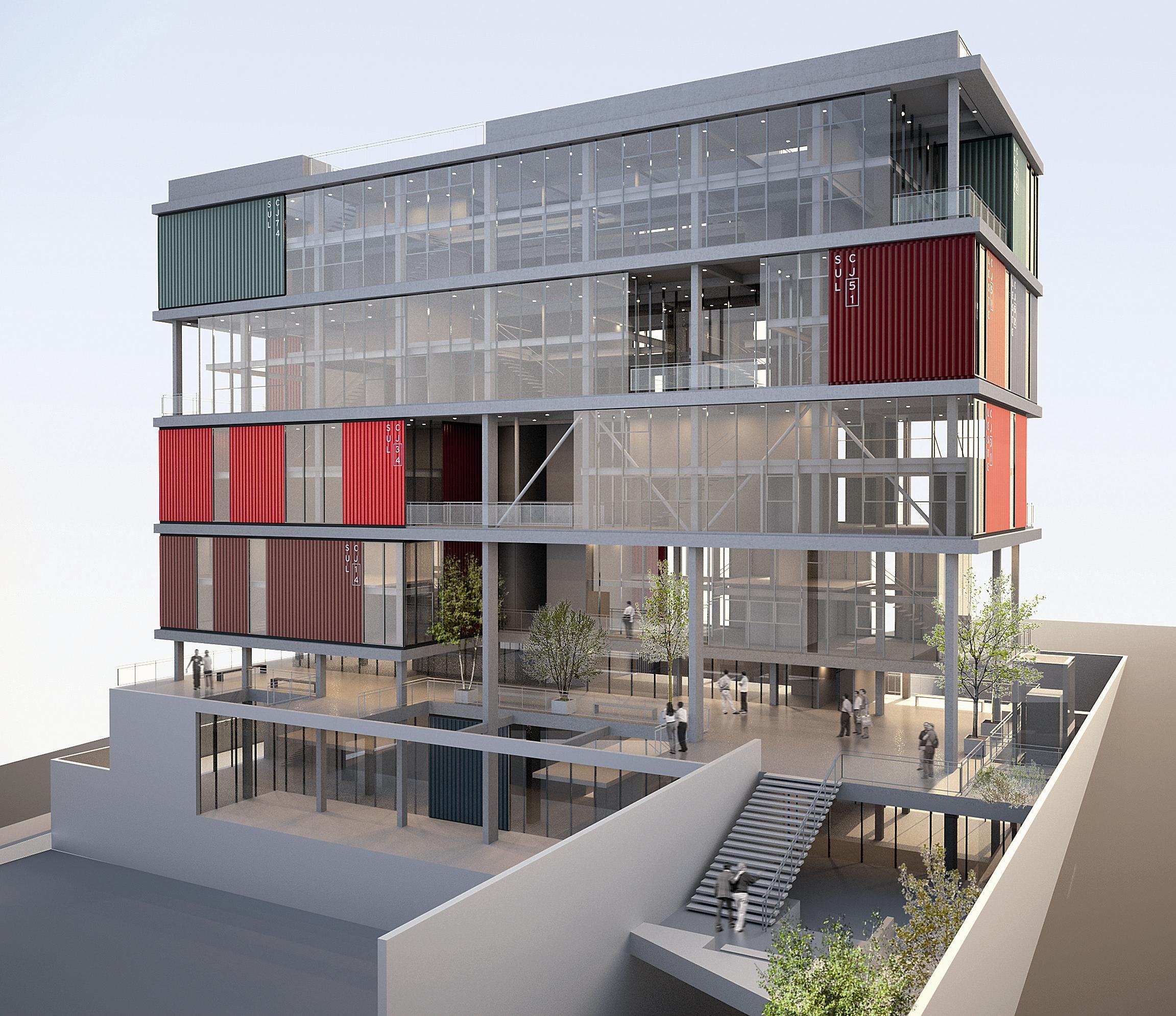 Suficiente Andrade Morettin Arquitetos Associados: Edifício comercial, São  HL77