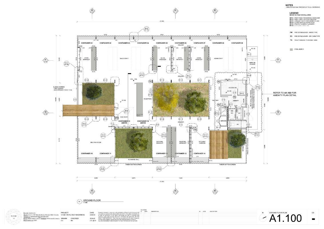 horta jardim associados : horta jardim associados:Pátios interligam salas em escritório feito com contêineres