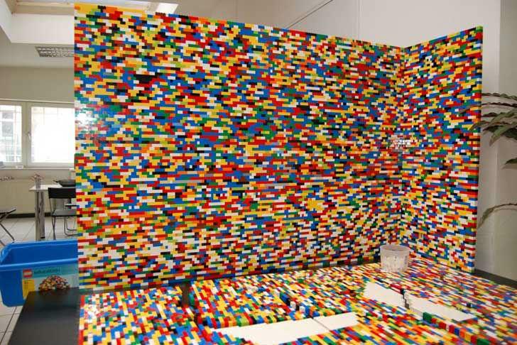Arquitetos Erguem Parede Com 55 Mil Pecinhas De Lego