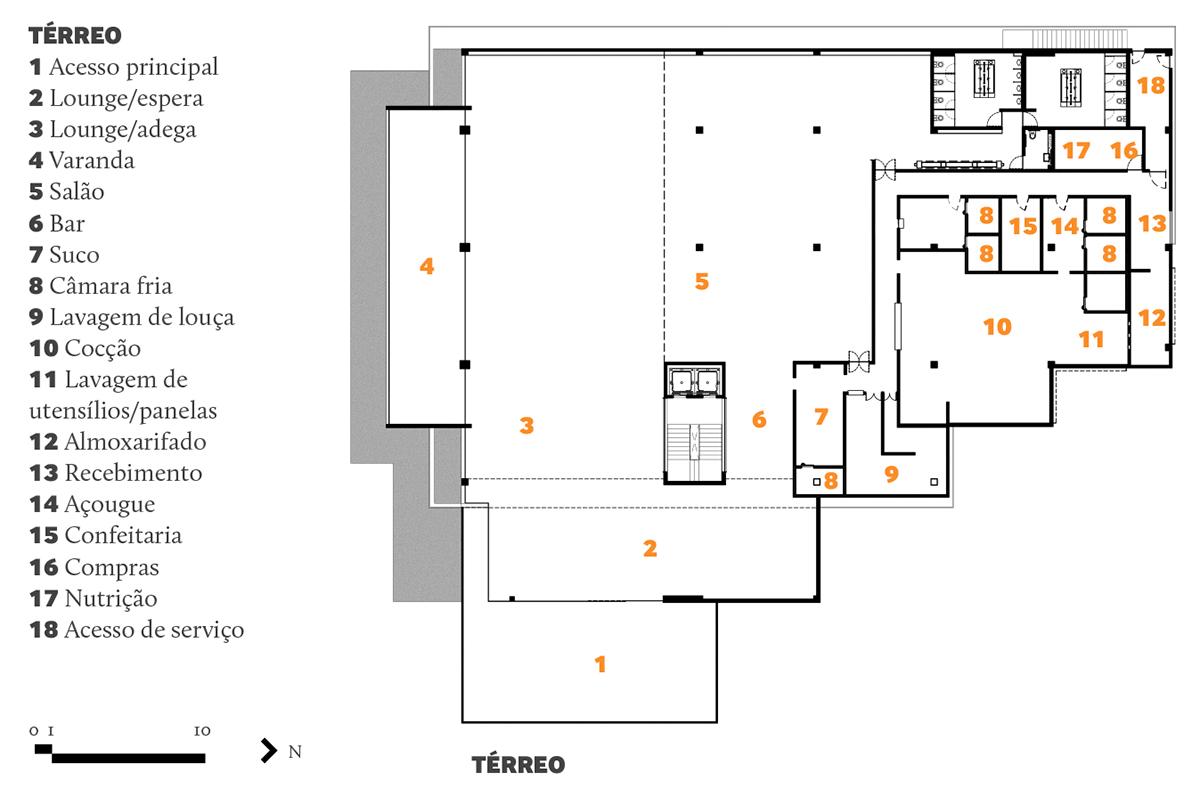 #C76204 Sandra Moura: Restaurante Nau Brasília ARCOweb 1200x789 px Normas Para Projeto De Cozinha De Restaurante_3820 Imagens