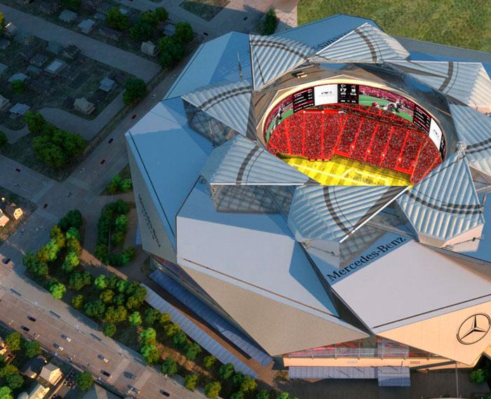 10 edif cios que atestam a sintonia entre arquitetos e for Atlanta airport to mercedes benz stadium